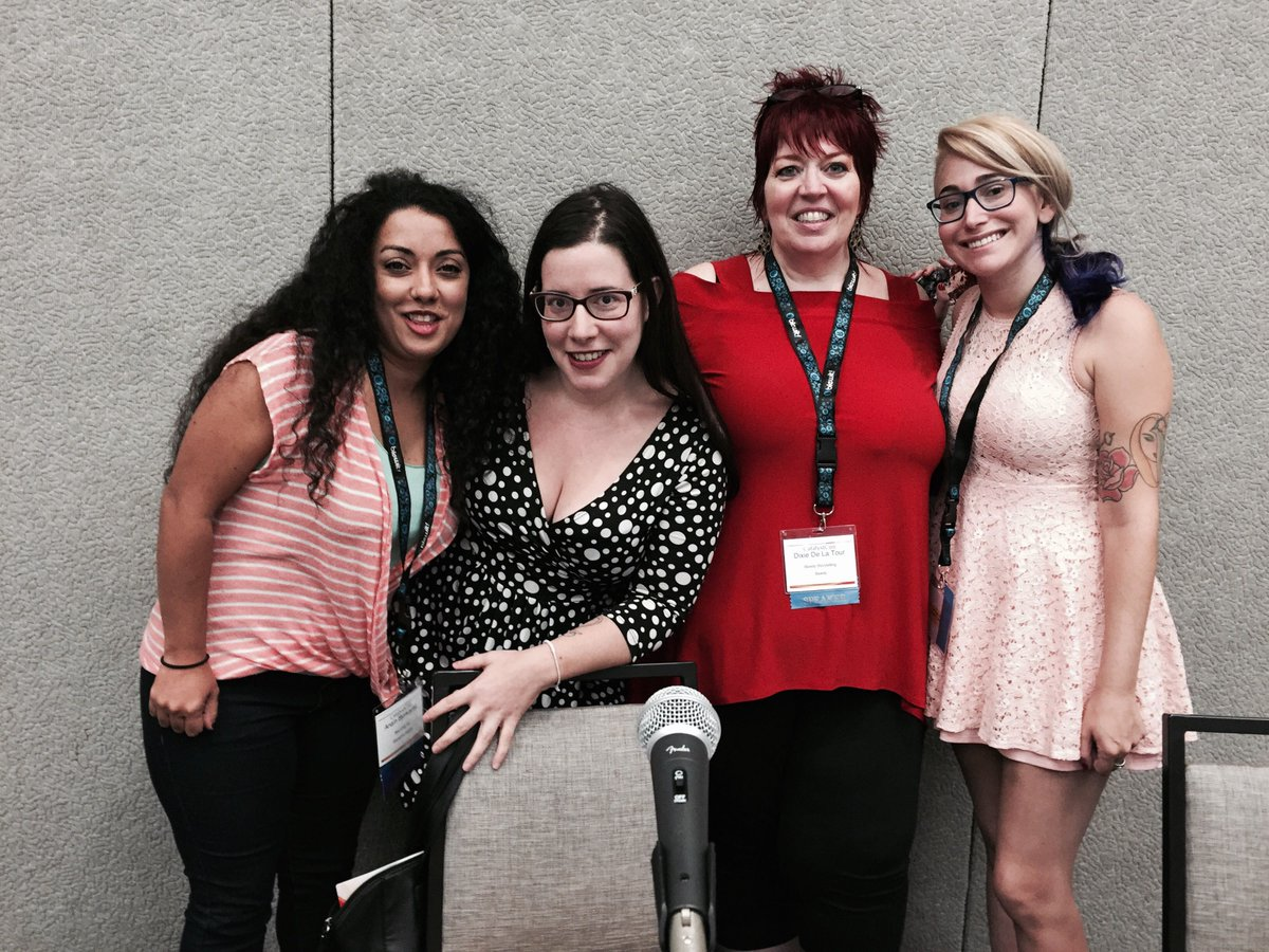 Brains and beauty overload at #cconpage panel with @raquelita @anainbjorkquist @DixieDLT @gabydunn #ccon http://t.co/iRtW3aCmfl