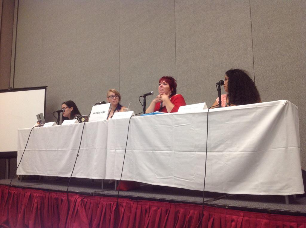 Look at these amazing women talking about their work in storytelling!  #cconpage #ccon http://t.co/zisyCDBOmV