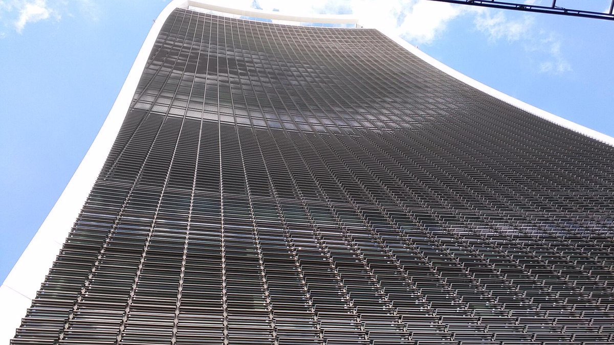 Looking up at the Sky Garden! #skygarden #london #fenchurchstreet #building http://t.co/GxJ6Mbxm1o