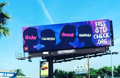 Use Tinder or Grindr? This billboard suggests getting tested for an STD  http:/