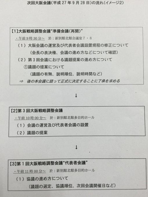 第三回大阪戦略調整会議をまたし...