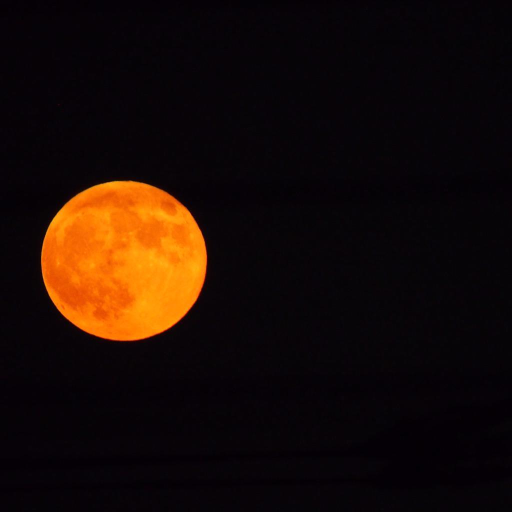 オレンジな満月! http://t.co/OXAV2AMxtg