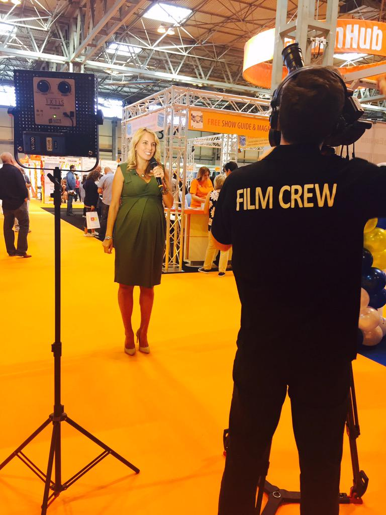 Filming for our new promo video with @Jasmineharman at the #aplaceinthesunlive show http://t.co/FKJoi5RCLM