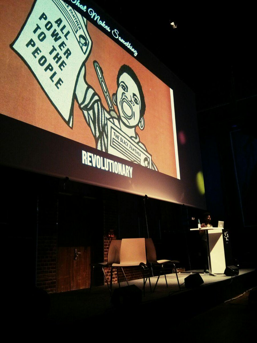 """First talk today: @itsmisscs and """"The Front-End Revolution""""! http://t.co/5eIDjnEi0x"""