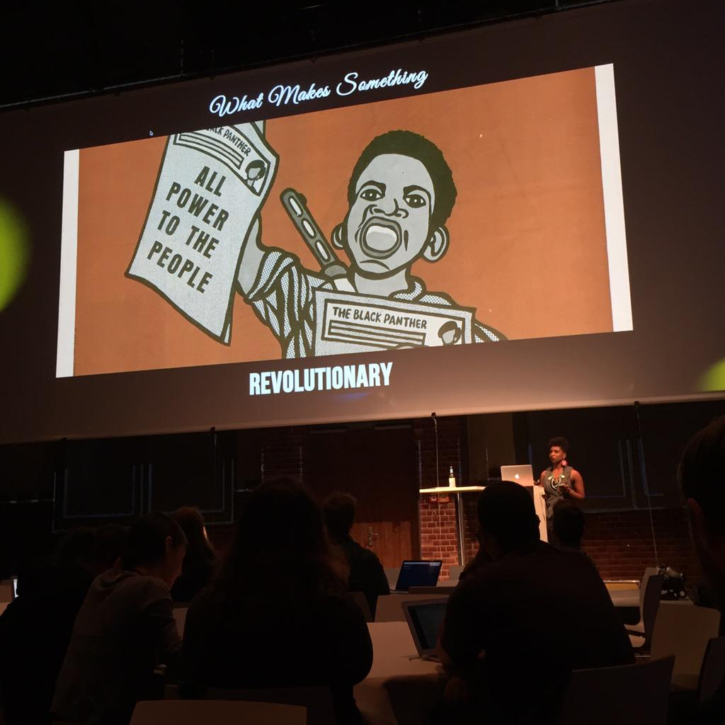 Great to see @itsmisscs set the mood for #cssconfeu with a short history of (front-end) revolutions. http://t.co/nay6AlbqRs