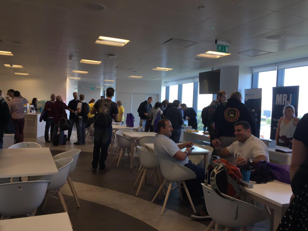 Filling up nicely at #BCMCR6 in the @AutoTrader_UK offices http://t.co/8q1PPNVIJc