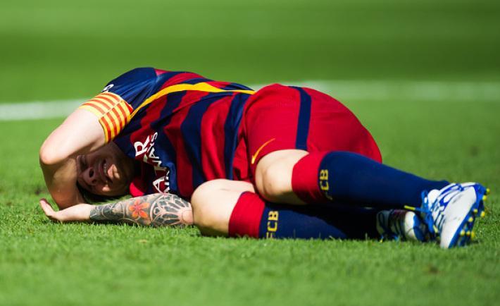 Messi Injured For 8 Weeks