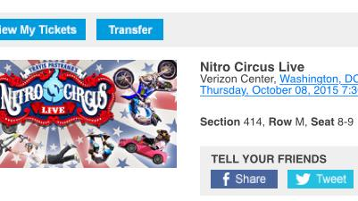 Some kids love paw patrol. My son's idol is @TravisPastrana. So taking him to see @NitroCircus for his 5th bday!