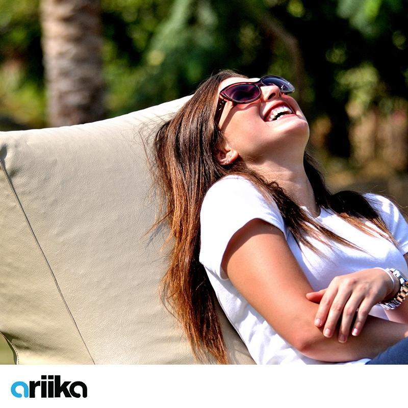 The simple joys in life; good company, shades and a beanbag in the sun. #ariikacomfort http://t.co/04e7gT9YhB