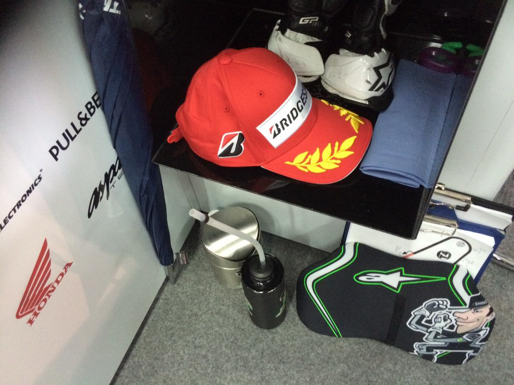 Hard earned hat, as @eugenelaverty takes 1st Open bike in @MotoGP http://t.co/SgXHePCydU