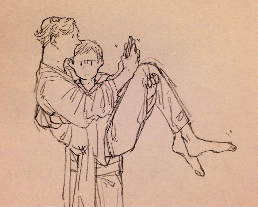 ありがとうございます!! リクエストのジョンさんがシャーロックをお姫様だっこ!!です!! 元軍医さっすが~~~~~っ!