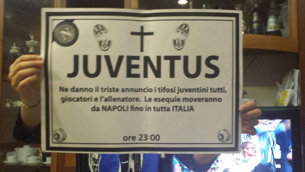 Epigrafe Juventus a Napoli.