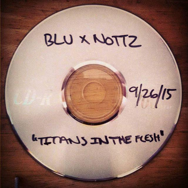 "Another one in the books! I mastered the dope new ""Titans in the Flesh"" EP from Blu & Nottz last night. #ComingSoon http://t.co/MemQxETC3h"
