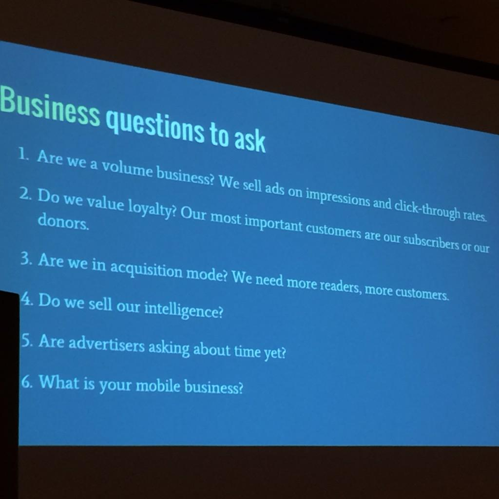 Business questions to ask #ona15metrics #ona15 http://t.co/b62cdQsiHF