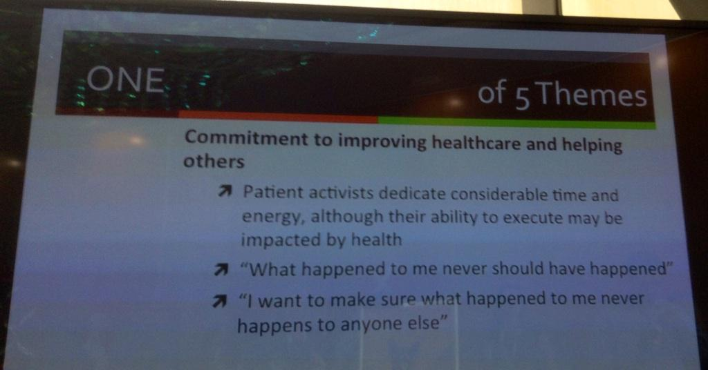 Why patients become activists #medx http://t.co/49pwqVAITo