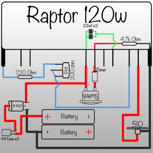 diy box mod supply on twitter 120 watt raptor http t co rh twitter com Raptor Box Mod Wiring-Diagram Tattoo Power Supply Wiring Diagram