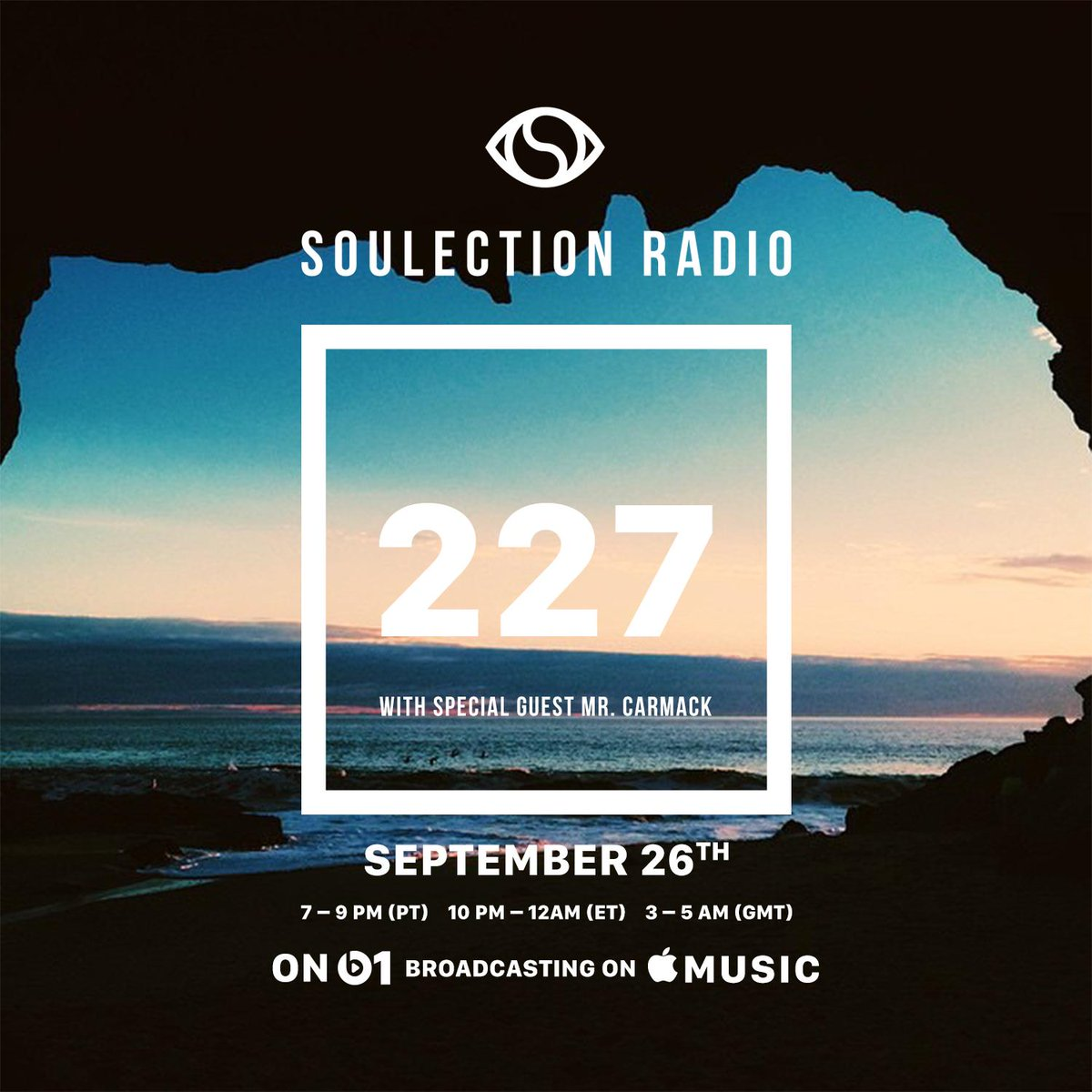 30 mins 'till @mrcarmack destroys radio. @Soulection #227 with @J0EKAY is next on @Beats1. https://t.co/5BCVGCNxRK http://t.co/XZHYtpfKui