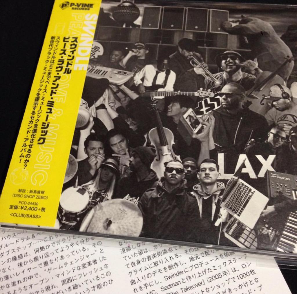 Peace, Love & Music @swindle Japan edition via @pvinerecords @discshopzero available soon