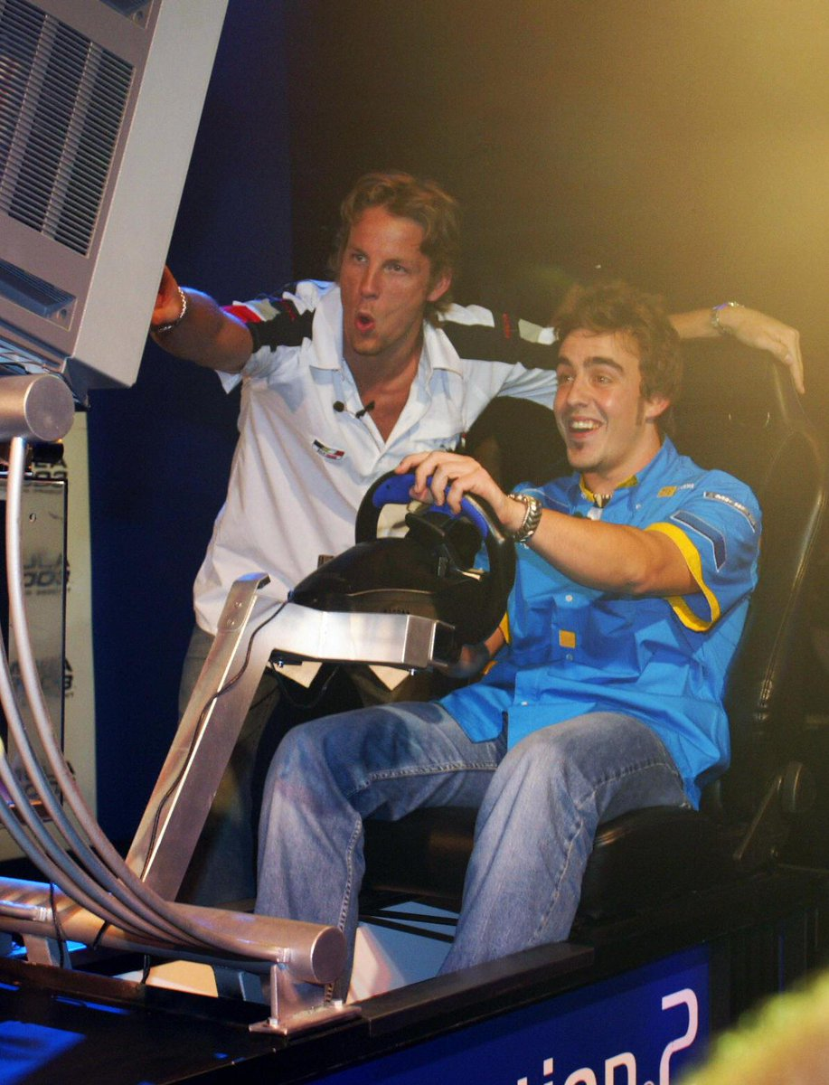 Proof that Jenson and Fernando did have fun driving together once upon a time #F1 http://t.co/Vy3oEZaMpo