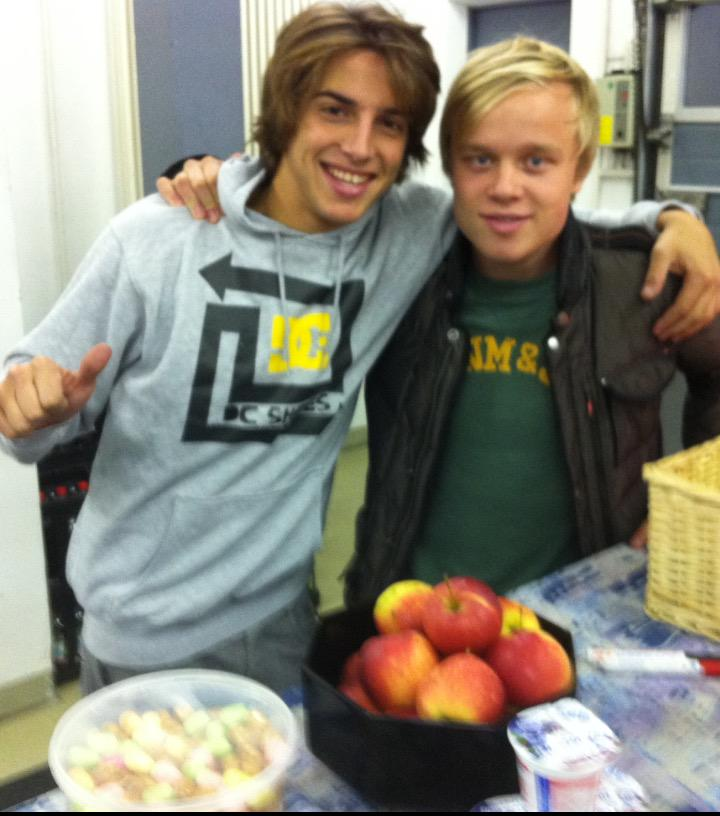 Photo of Roberto Merhi & his friend   -