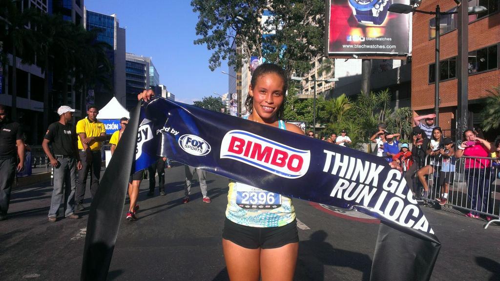Wilyeska Suárez la ganadora absoluta de la 1era edición de la #GlobalEnergyRace #Caracas #BimboVenezuela http://t.co/MSfsjD0TCq