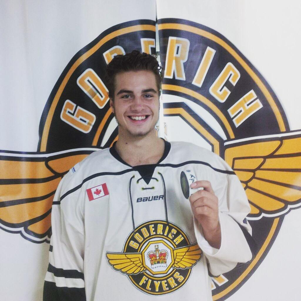 "Goderich Flyers on Twitter: ""Congrats to Kody Langlois @979e69f428a245d on his 1st Jr.C Goal last night vs the Patriots."