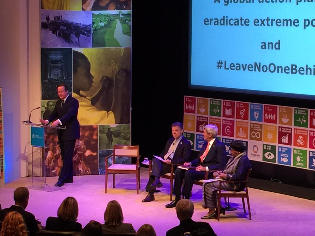"""It's not simply enough to reduce extreme poverty we have to end it"" @David_Cameron on #GlobalGoals #NoOneLeftBehind http://t.co/yYg2yJdvrJ"