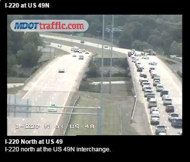 traffic (accident)- i-220 s  past us 49 north/medgar evers