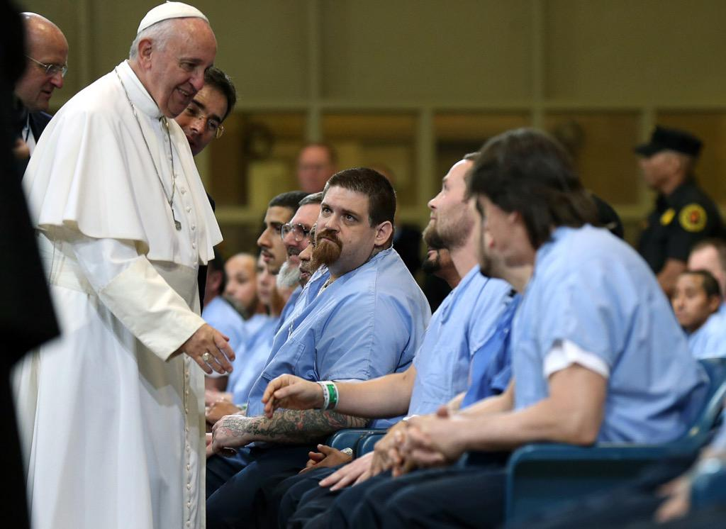 """I was in prison and you visited me."" Matthew 25:36 #PopeFrancis #PopeInPhilly #PopeinUS http://t.co/xxH5rUTWL4"