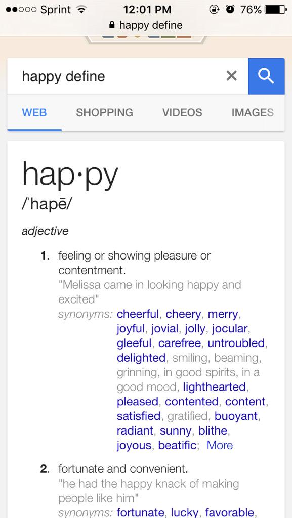 Google define gleeful
