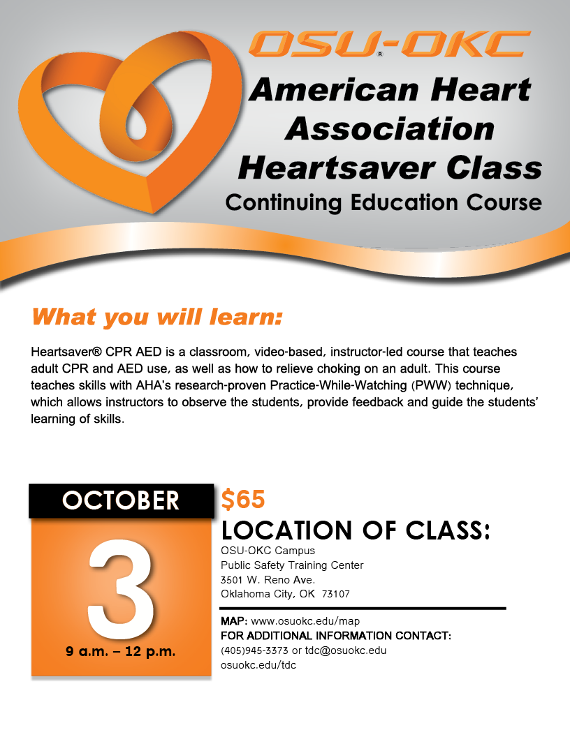 Osu Oklahoma City على تويتر American Heart Association Heartsaver
