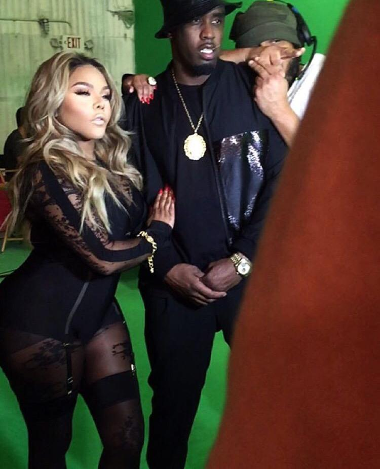 NEW Photo of @LilKim & @iamdiddy on set of a music video http://t.co/tG7YiCn2l1
