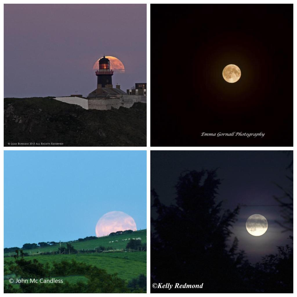 The full moon rising in Cork, Belfast, Newry, and Inishowen. Eclipse from 03:11. #Eclipse #Supermoon http://t.co/ljLAeo51pu