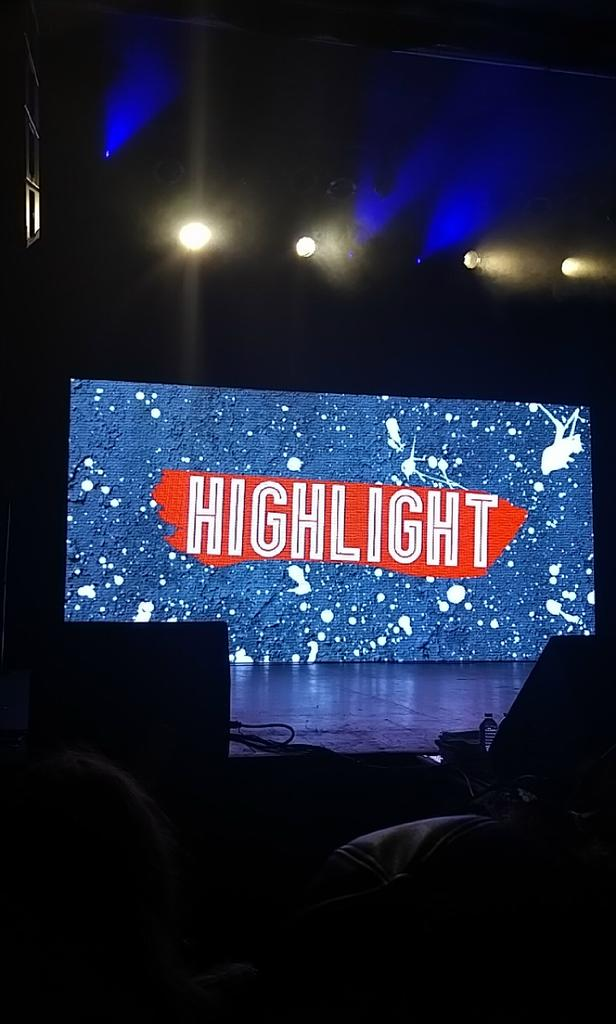 Got a great spot near the stage! Just waiting on our boys to show them the love they deserve! #HighlightInToronto