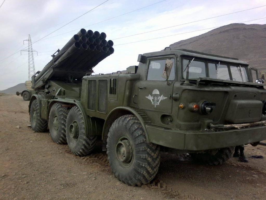 راجمات BM-30 Smerch في سوريا  CP8b8C0UYAAMz4K