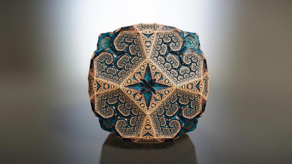 トム・ベダード(1976〜)による「ファベルジェ・フラクタル」。イギリスのアーティスト。セント・アンドルーズ大学にて物理学の博士号を取得しましたが、アカデミックの場を離れ、アーティストとして活動を始めました。