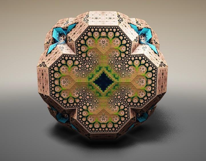 トム・ベダードによる「ファベルジェ・フラクタル」。これらは数学的またはアルゴリズム的プロセスに基づいて製作されており、フラクタル構造を持った3Dの作品をつくり出しています。