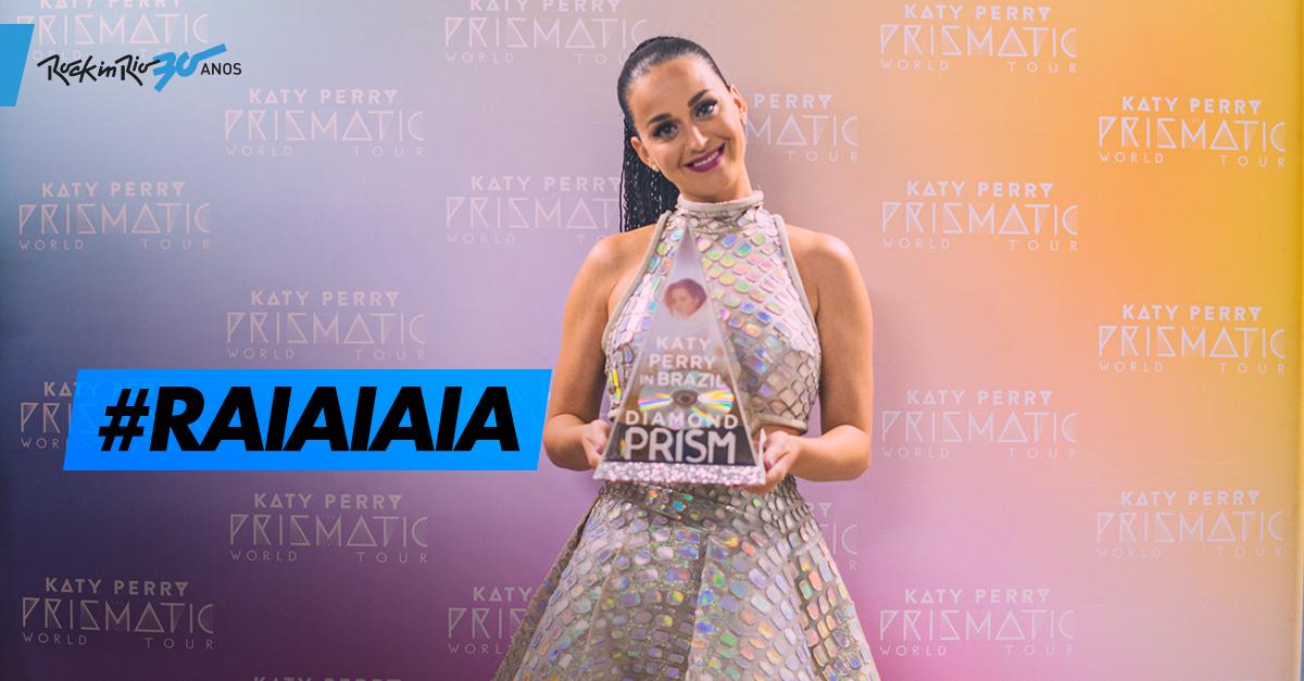 Toma, @katyperry, você merece o troféu #raiaiaia de melhor show