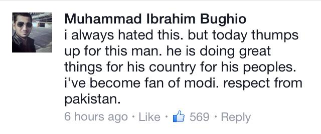 Some Pakistani comments on PM @narendramodi 's speech at @facebook HQ yesterday . http://t.co/XDqdi2VrUk