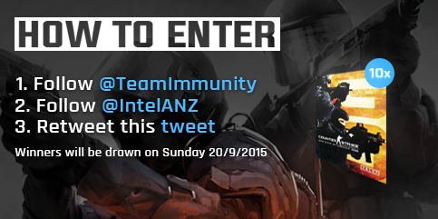 In celebration of our CS boys heading to DreamHack Sweden, we're giving away 10 copies of CS:GO thanks to @IntelANZ http://t.co/Pf0aBKqbI8