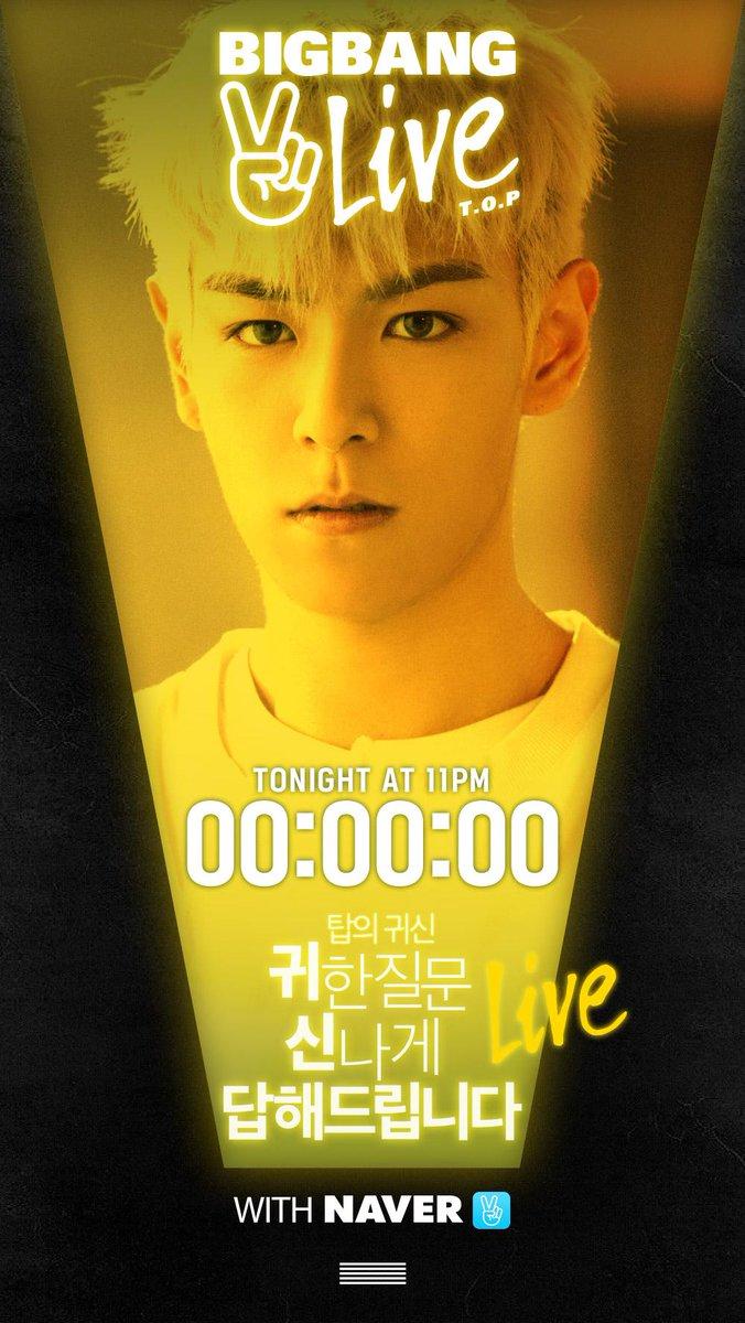 [BIGBANG - V LIVE 'T.O.P' COUNTER] originally posted by http://t.co/XZQ3IOI9MY #BIGBANG #빅뱅 #TOP #탑 #VLIVE #Vapp