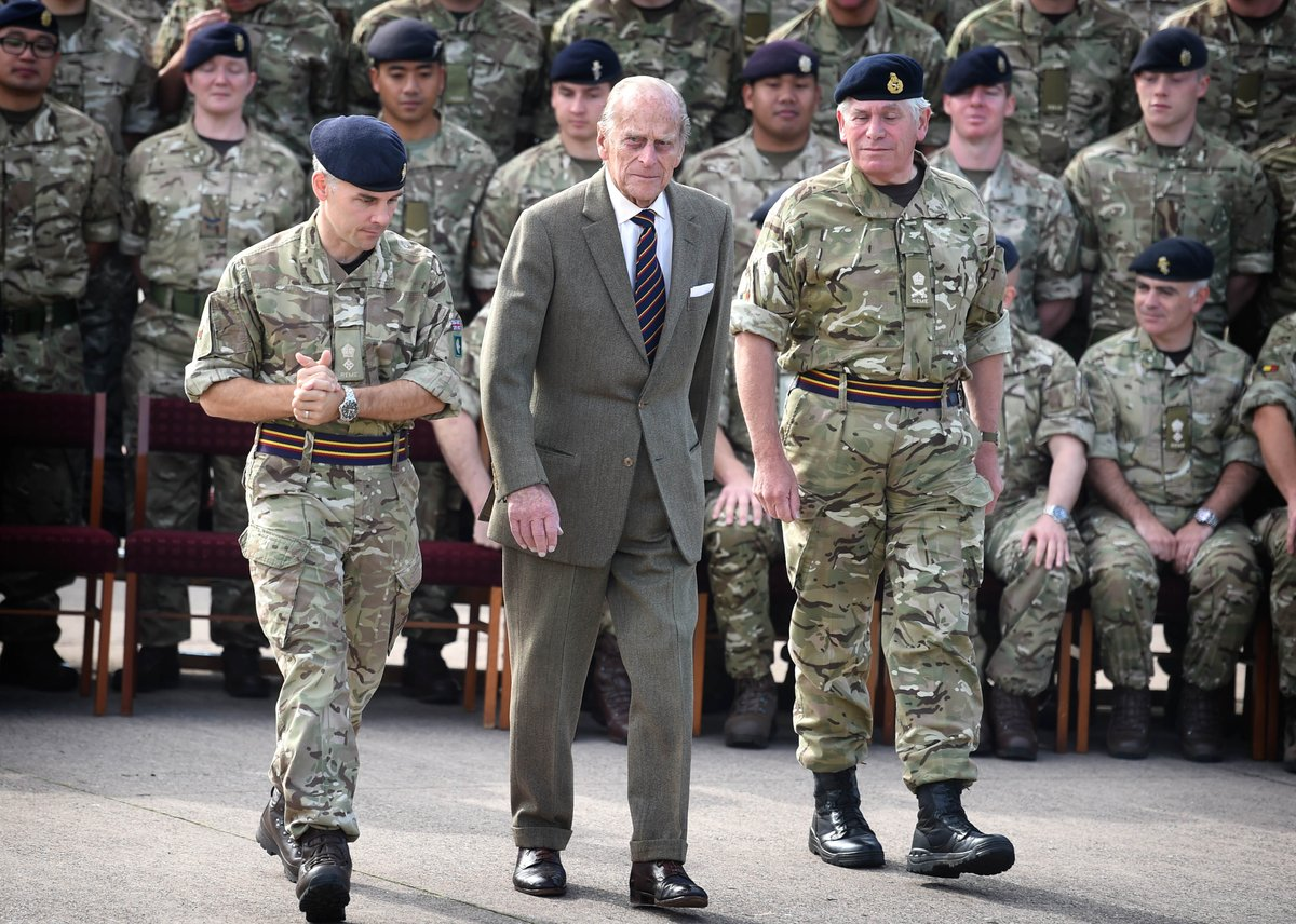 HRH The Duke Of Edinburgh Visited 2 Close Support Battalion At Leuchars In His Role As