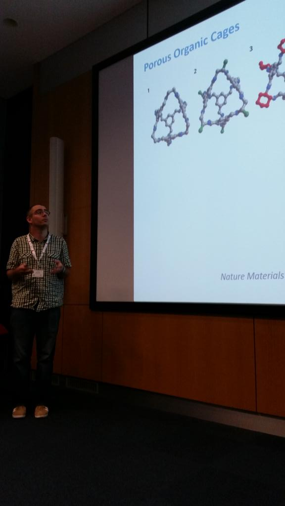 Next up, Tom Hasell from Liverpool telling us about porous organic cages #RAMS2015conf http://t.co/iKinIVavKr