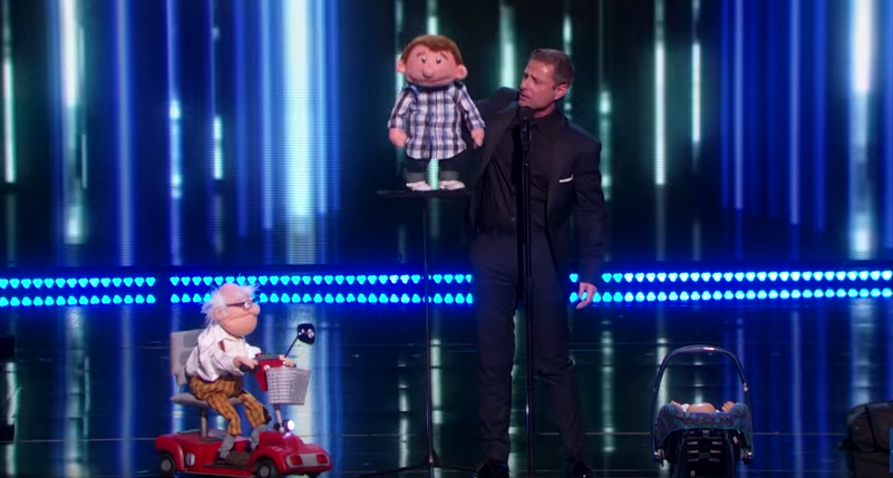 Thank you for voting for us! Paul, Grandpa, Baby and Sam #agt http://t.co/r9n59uq1ow