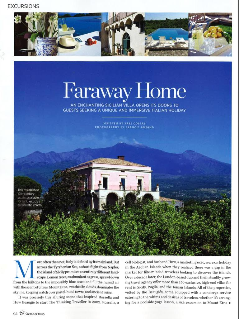 Thank you @KariCostas and @traditionalhome for featuring our #hideaway #villa in your October issue @ThinkVillas
