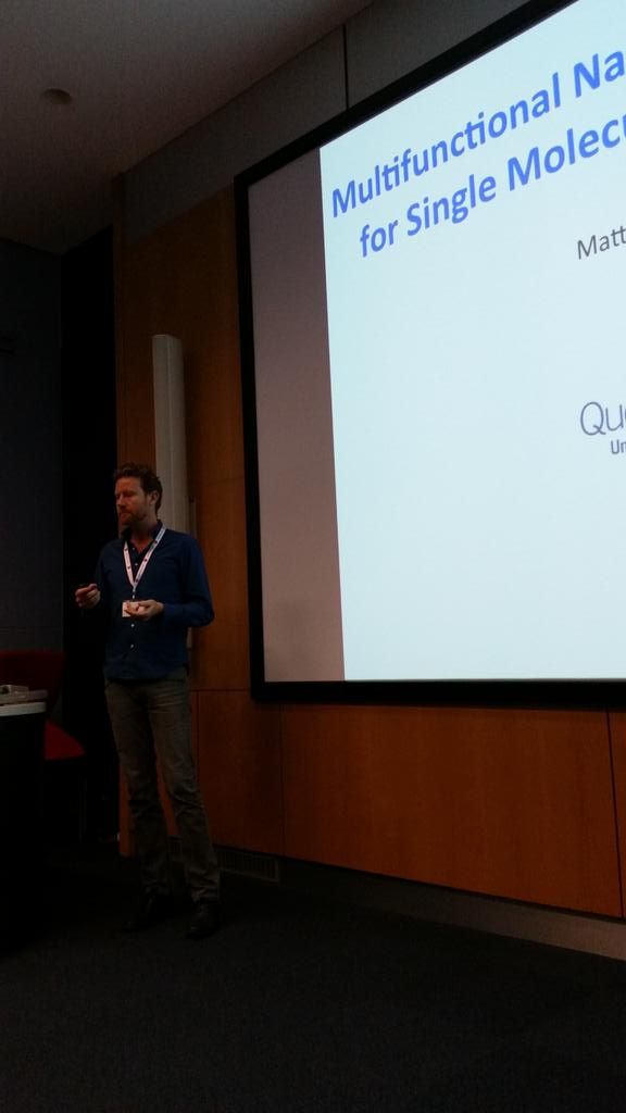 Self assembly at the nanoscale - Matteo Palma continues the first session #RAMS2015conf http://t.co/1WZuLx8lL9
