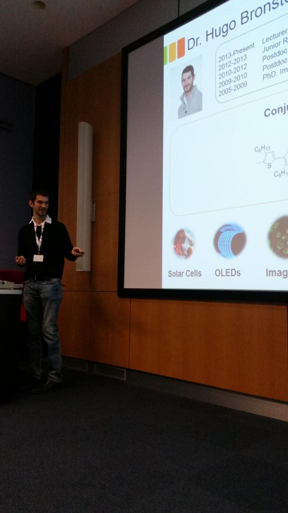 Hugo Bronstein is our final contributed talk of the morning-conjugated polymers #RAMS2015conf http://t.co/A1oSzGBzoM