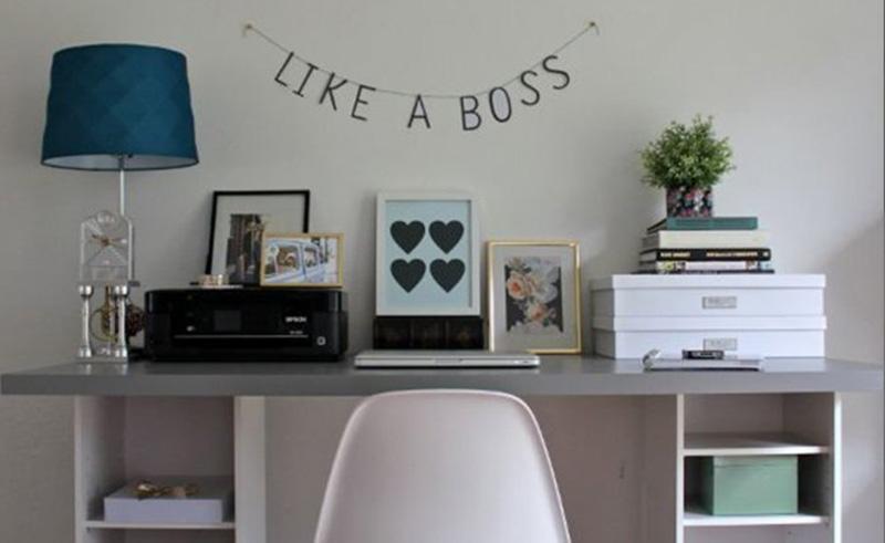 60 id es pour d corer un coin bureau. Black Bedroom Furniture Sets. Home Design Ideas