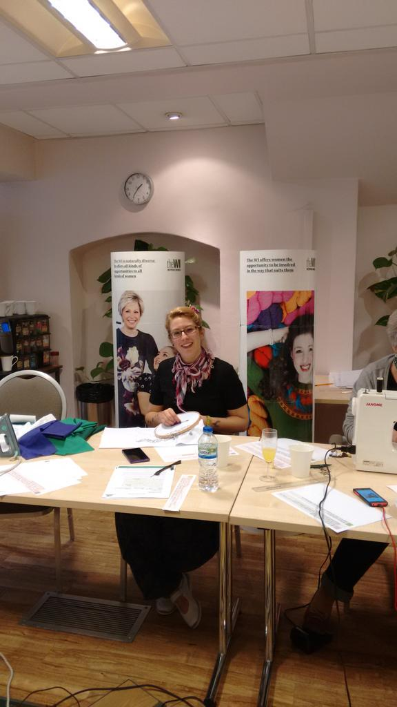 tWItterstitch in action @WomensInstitute this is @GemmaRathbone working her magic #theWI_100years http://t.co/K9lsYwb6WV