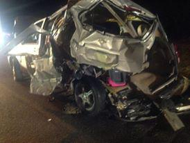 This is my friend's van. See the pink car seat? SAVED THAT CHILD! #therightseat http://t.co/IxDrN73TV6